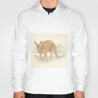 kangaroo Hoodies featuring Kangaroo. by Mariel Castro