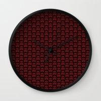 burgundy Wall Clocks featuring  Burgundy Stormtroopers by foreverwars