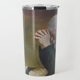 Eric Enstrom Grace Man Praying Over Bread Travel Mug
