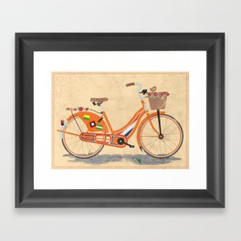 Love Holland, Love Bike Framed Art Print