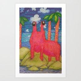 Island Friend Art Print