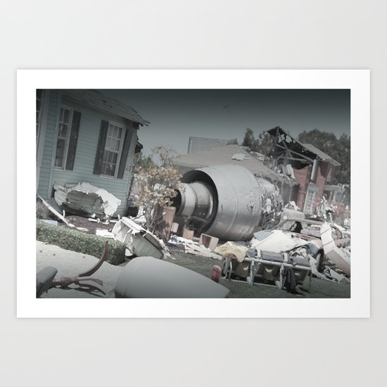 jet engine in my front yard Art Print