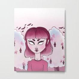 medium magenta Metal Print