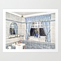 bathroom Art Prints featuring Bathroom Image by Valerie Paterson