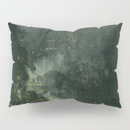 Nocturne In Black And Gold The Falling Rocket By James Mcneill Whistler | Reproduction Pillow Sham