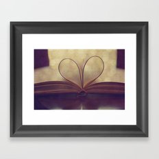 Love of the Book Framed Art Print