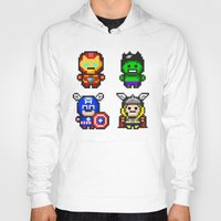 superhero Hoodies featuring Superhero Gathering by Daizy Jain