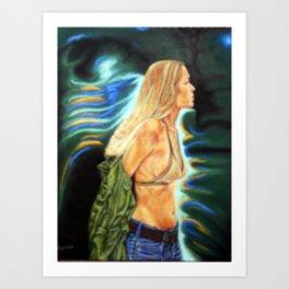 Neon Lady Art Print