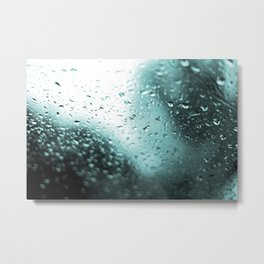 Splash Water - Blue Metal Print