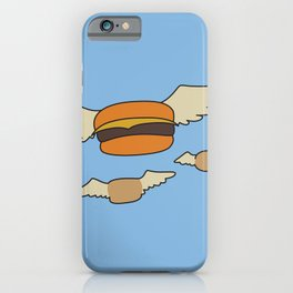 Bob's Burgers Flying Hamburger picture iPhone Case