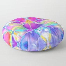 Floral Fractal Art G307 Floor Pillow