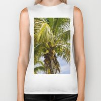 palm trees Biker Tanks featuring Palm Trees by Cheryl - DevilBear Photography
