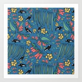 Magpie Muddle Art Print