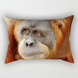 Observant Orangutan Rectangular Pillow