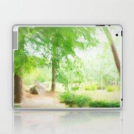 Beautiful green maple in summer day Laptop & iPad Skin
