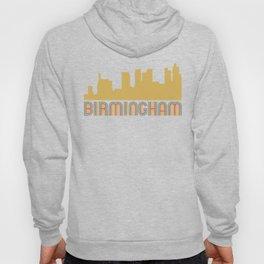 Vintage Style Birmingham Alabama Skyline Hoody