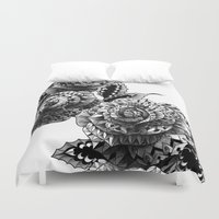 bioworkz Duvet Covers featuring Four Roses by BIOWORKZ