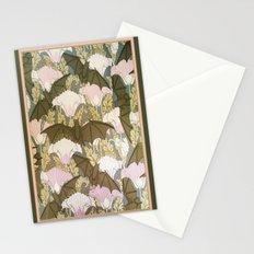 Vintage ART Nouveau Bat Floral Pattern Stationery Cards