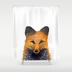 Merry Foxmas! Shower Curtain