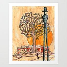 Sunset Hill Art Print