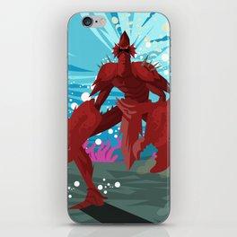 crab evil monster iPhone Skin