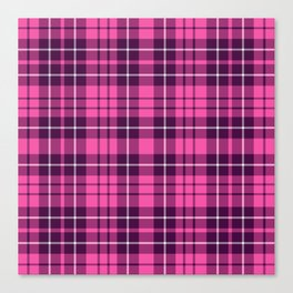 Pink & Purple Tartan Plaid Pattern Canvas Print