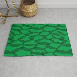 Overlapping Leaves - Dark Green Rug