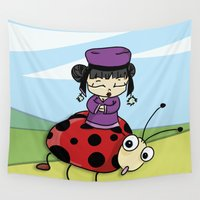 ladybug Wall Tapestries featuring Ladybug by flydesign