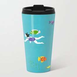 Let's Swim Together - Fish Metal Travel Mug