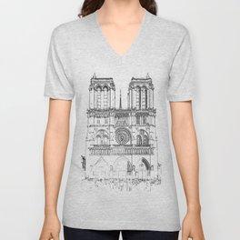 Notre Dame de Paris Unisex V-Neck