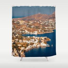 Beautiful Leros Shower Curtain
