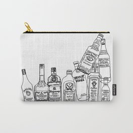 Alcohol Bottles (White) Carry-All Pouch