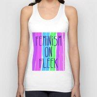 feminism Tank Tops featuring Feminism on Fleek by RCM Prints