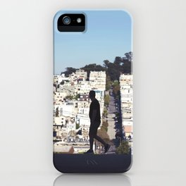 Silhouette from Near Lombard Looking Toward Coit Tower, San Francisco iPhone Case
