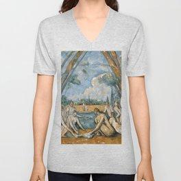 Paul Cézanne - Les Grandes Baigneuses (The Large Bathers) Unisex V-Neck