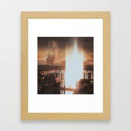 BICUBIC SAMPLING  (everyday 01.15.17) Framed Art Print