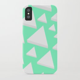 White Triangles iPhone Case