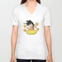goku V-neck T-shirts featuring Goku by CmOrigins