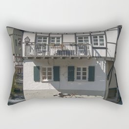 House in the water fisher quarter Ulm - Germany Rectangular Pillow
