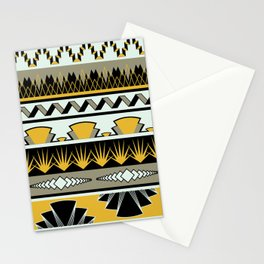 art deco stripes - honey Stationery Cards