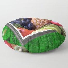 Modern Fruit Basket Still Life Floor Pillow