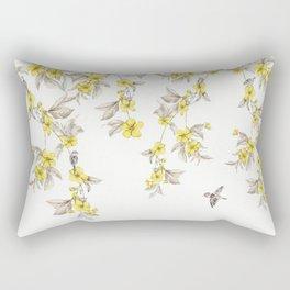 Birds and Cherry blossoms II Rectangular Pillow