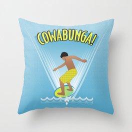 Cowabunga Flow-boarding Pop Art Throw Pillow