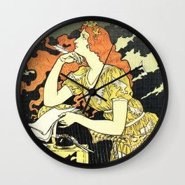 Marquet ink, art nouveau ad by Grasset Wall Clock