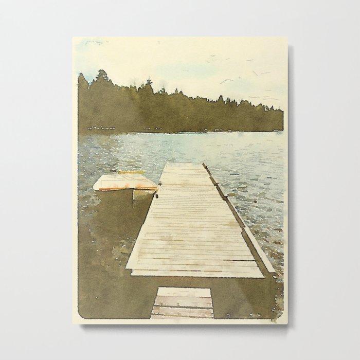 Lily Bay Dock Metal Print