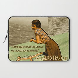 Science Quote Rosalind Franklin Laptop Sleeve