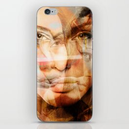faces of Angelina Jolie iPhone Skin