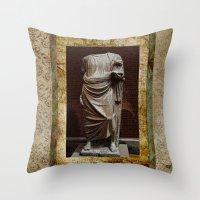 greece Throw Pillows featuring Greece  by Saundra Myles