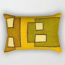 Protoglifo 02 'ochre closer to green' Rectangular Pillow