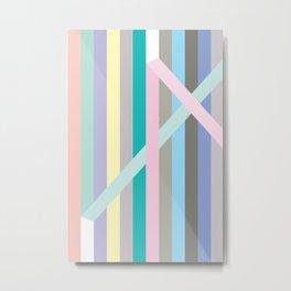 Finespun Stripes Metal Print